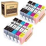 Hehua Remplacer Cartouches HP 364 XL 364XL Compatible Cartouche Encre HP Photosmart 7520, pour 7510 7515 C5380 C5388 C6380 D5460 D5468 Photosmart Pro B8550(2Noir, 2Photo Noir, 2Cyan, 2Magenta, 2Jaune)