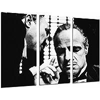 Cuadros Camara Poster Moderno Fotografico Cine Antiguo Vintage, Blanco y Negro, el Padrino, 97 x 62 cm, Ref. PST26964