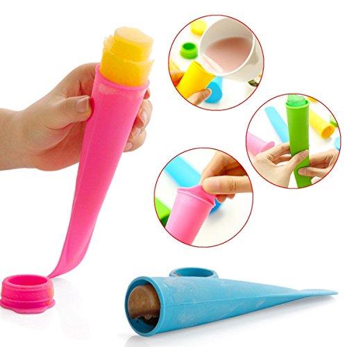Faway Ice Pole Makers, DIY Silikon Frozen Popsicle Schimmel Push Up Lolly Pop EIS Form (Ice Maker Schimmel)