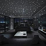 huichang Glow In The Dark Star Wall Stickers 407 Pcs Round Dot Luminous Kids Room New Decor