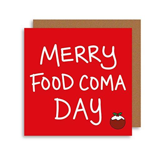 Funny food Coma giorno di Natale-umoristico di Natale-Natale alternativa