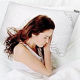 Homitt Kopfkissen Schlafkissen Pillow aus geschredderten Memory Schaum