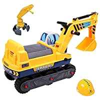 deAO Children Ride-on Excavator Digger Ride On Tractor