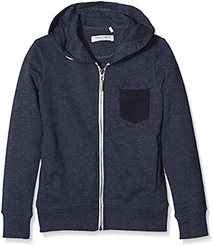 Teddy Smith Geler, Sweat-Shirt à Capuche Garçon, Bleu (Us Navy Chiné), FR: 14 Ans (Taille Fabricant: 14)