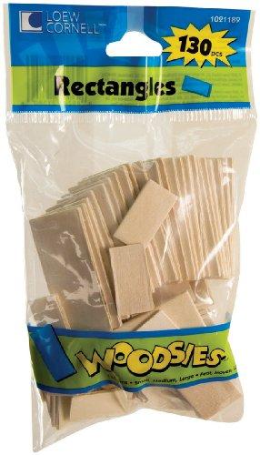Woodsies Rectangles 130/Pkg-