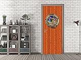 GRAZDesign 791497_67x213 Tür-Bild Holz-Optik mit Bullauge | Aufkleber fürs Wohnzimmer/Bad | Tür-Tapete selbstklebend (67x213cm//Cuttermesser)