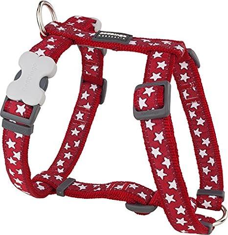 Red Dingo Hundegeschirr, Größe L, 25mm breit, Halsumfang 46-76cm, Körper