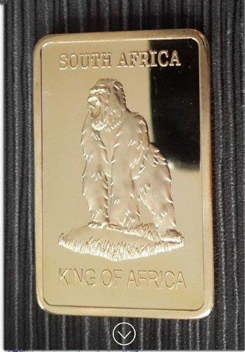 Krügerrand Gorilla 1 Oz Gold Goldbarren Barren 999 24K verg. King of Africa © Exkl. von WoC (Goldbarren 1 Oz)