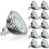 LE 10er GU5.3 LED Lampen, ersetzt 50W Halogenlampen, 3.5W MR16 12V 280lm Kaltweiß 6000 Kelvin 120 ° Abstrahlwinkel LED Birnen, LED Leuchtmittel