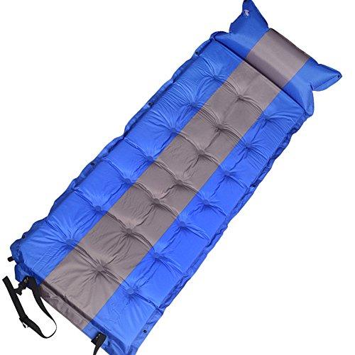Pizz Annu Luftbett Single Outdoor-automatische Camping Rolle Matte & aufblasbar Schlafsack Matratze Pad, unisex, blau
