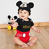 Disney Mickey Mouse Jersey Bodysuit & Hat - Age 18-24 Months