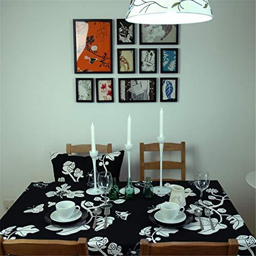 Tuhaxz Elegante Schmetterlings-Tischdecken-Mode-Schwarzweiss-Tischdecken Moderne Küchentisch-Designer Tablecloth Party