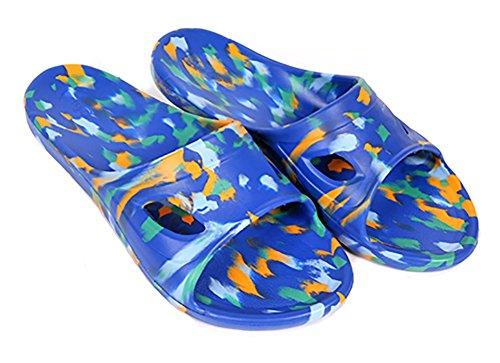 Slip-on Sandali da spiaggia doccia antiscivolo pantofole Mulo EVA Schiume suola scarpe Piscina Bagno Slide per adulti darkblue