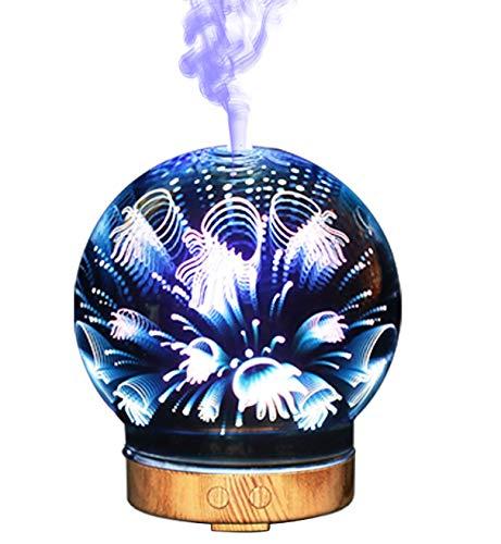 EA-Miao Aroma Diffusor Ätherisches Öl Diffusor Luftbefeuchter Duftlampe Bunte Nachtlicht 3D Ultraschall Kreative Geschenk -