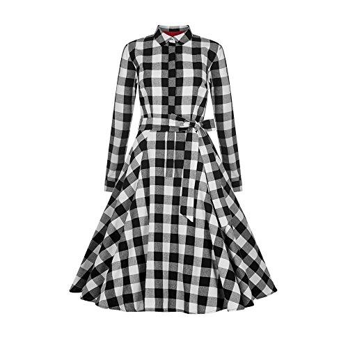 Mara Checked Shirt Kleid Black/White Size 3XL (Shirt-kleid Checked)