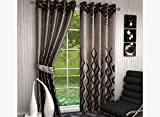 Freehomestyle Floral Jute Door Curtains-...