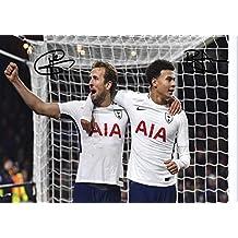 Harry Kane + dele Alli firmato A4stampato Autograph Tottenham Hotspur photo display–Great gift idea