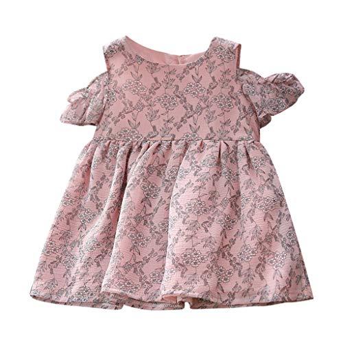 Winkey  Babykleidung Mädchen, Kleinkind Baby Kinder Mädchen Schulterfrei Floral Princess Dresses Casual Kleidung