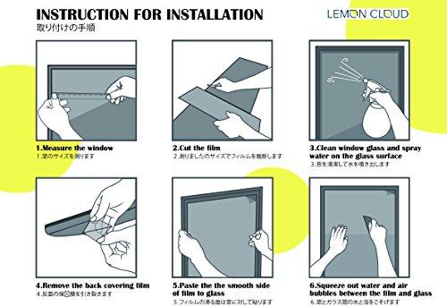 51caX6%2BxlaL - LEMON CLOUD 3D Film Esmerilado Ventana Ventana Adhesivo Estatico se Aferran Bambus Patron para Oficina Casa Decoracion y Proteccion de la Privacidad (60cmX200cm Bambu)