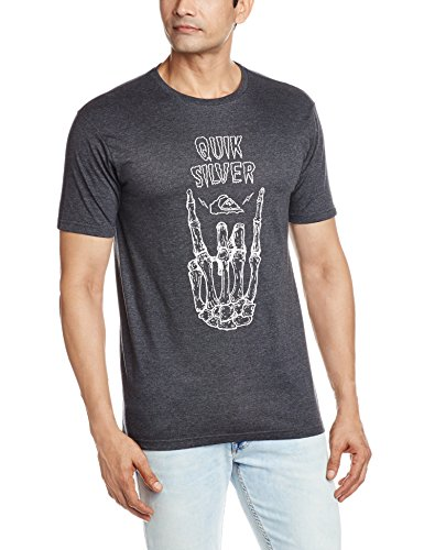 Quiksilver Herren Printshirt Charcoal Heather
