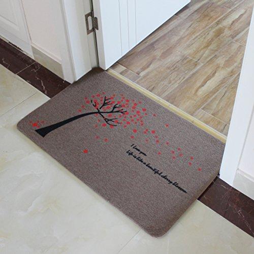 LRW Home Door Mat Mat Wohnzimmer Balkon und Küche Flur Bad WC Matte Eingang absorbierende Pads (Color : F)