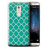 Stuff4® Gel TPU Hülle/Case für ZTE Axon 7 Mini/Quatrefoil/Klee Muster/Teal Mode Kollektion