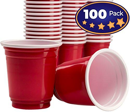 Premium rot Einweg Schnapsglas 100Stück von Avant Grub. 2Oz Mini Kunststoff Tasse Toll für Partys mit Beer Pong, Bomben und Jello Shots. Verwenden Shooter zu Gewürze, Snacks und Proben zu-Verkostung