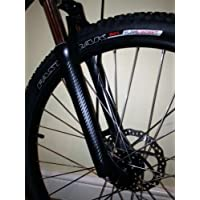 Ellis Graphix - Protector de horquilla hecho de fibra de carbono, para para Bicicleta MTB