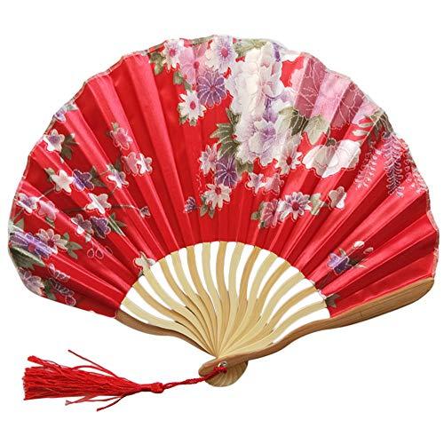 Galy Blume Muster Folding Fans 12 Klappen Faltfächer Chinesischer Stil Bambus Handfächer Holz Fächer Für Geschenk Party Hochzeit Dekor -
