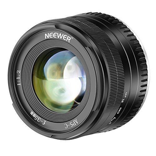 Neewer Prime APS-C Aluminium-Objektiv für Spiegellose Kameras von Fuji X (35 mm, F1.2) X-A1 X-A10 X-A2 X-A3 X-at X-M1 X-M2 X-T1 X-T10 X-T2 X-T20 X-Pro1 X-Pro2 X-E1 X-E2 X-E2s