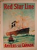Red Star Line–Antwerpen–Kanada–60x 80cm Kunstdruck/Poster