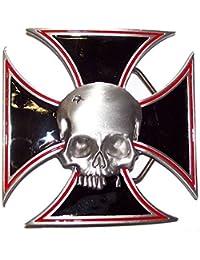 Buckle eiserne Kreuz mit Totenkopf, mehrfarbig