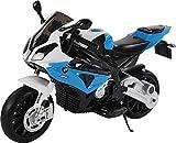 BMW Kindermotorrad S1000RR Lizenziert Kinderelektroauto Kinderfahrzeug (Blau)