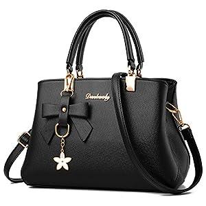 Charmore Women Top Handle Handbags Shoulder Bag PU Leather Tote Bags