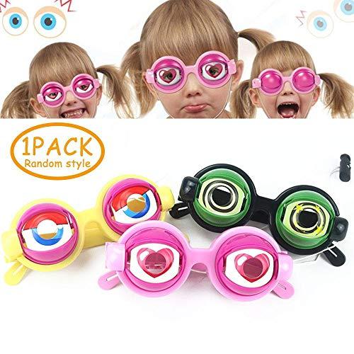 Slinky Kostüm - Womdee Lustig Kinder Brillen Kostüm, Googly Augapfelgläser Modische Unisex-Brille Slinky Kids & Adults, Gag-Geschenke für Halloween, Aprilscherz und Themenparty