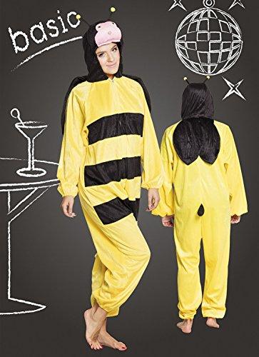 (Faschingsfete Kinder Motto-Party Karneval Kostüm Honig Biene, Onesie-Jumpsuit, 152-164, 12-14 Jahre, Mehrfarbig)