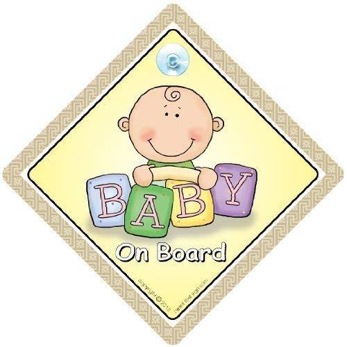 Baby On Board Sign Car, Enkelkind On Board, Baby Auto, Baby on Board Schild, Auto, braun ziegel, Baby on Board, Baby Schild, Unisex Baby on Board, Schild, Enkelkind On Board, Aufkleber, Bumper Aufkleber, Baby Proof