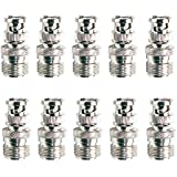 Pro Trucker (10-Pack) Adapter SO239 UHF Jack Female To BNC Male Plug RF Connector Straight F/M