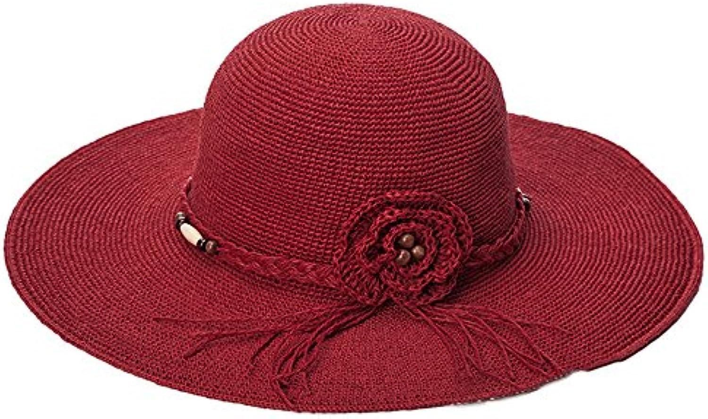 Cappello da sole LHA Cappello donna il estate lungo il donna cappello di  paglia Cappello pieghevole da sole Cappello da... Parent 574937 7f8468eee532