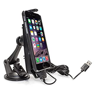 iBolt iPro2 MFI Apple Approved Car Dashboard Window Dock Mount Compatible with iPhone 5/5S/5C/6/6S/6 Plus/6S Plus/SE