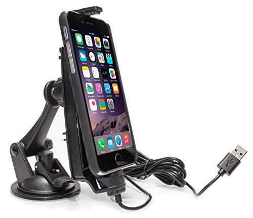 iBOLT ipro2MFI KFZ dashboard Fenster Dock Halterung Kompatibel mit iPhone 5/5S/5C/6/6S/6PLUS/6S Plus/SE (Iphone-auto-halterung Arkon)