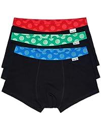 Happy Socks Big Dot Black Trunks - 3-Pack