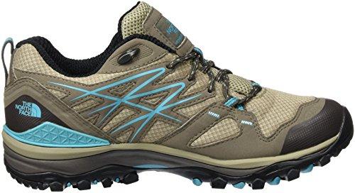 The North Face Damen W Hedgehog Fastpack Gtx (Eu) Sneakers, Beige Mehrfarbig (Plazatpe/Blubrd Gsu)