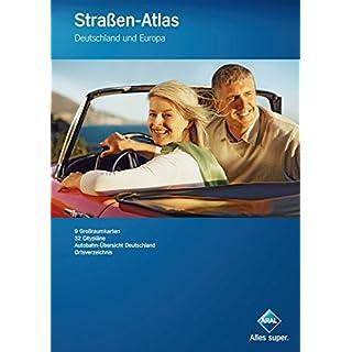 Aral Straßen-Atlas: Deutschland und Europa; Reisekarten, Großraumkarten, Citypläne, Ortsverzeichnis (Aral Touristikprogramm)