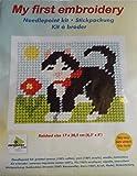 Orchidea Stickpackung für Kinder halber Kreuzstich Katze 9710