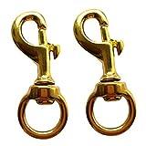 #4: Baoblaze 2x Scuba Diving Brass 10mm Eye Clip Swivel Key Ring Snap Clasp Trigger Hook