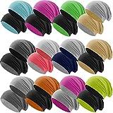 Hatstar Bicolor Jersey Slouch Long Beanie Mütze, leicht und weich, Reversible Beanie für Damen und Herren (Zwei-farbig | Bicolor pink-hellgrau)