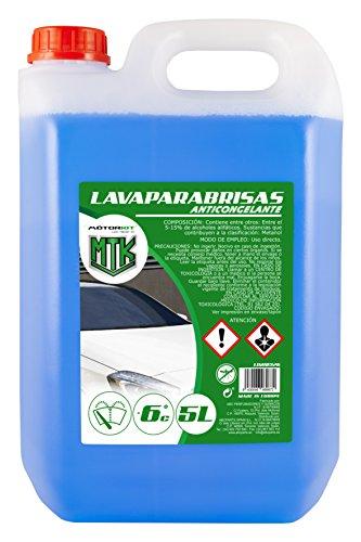 Motorkit LIM10326 Lavaparabrisas Anticongelante -10% de Invierno, 5 litros