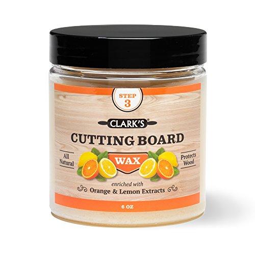 Clarks Schneidebrett-Finish Wax Angereichert mit Zitrone und Orangenöle mit natürlichem Bienenwachs und Carnaubawachs Butcher Block Wax 6 Unzen Orange Zitronenduft