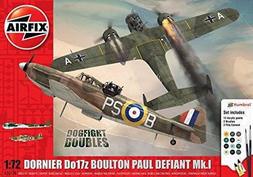 Airfix 1: 72Scale Boulton Paul Defiant Mk.1Dornier do17z-Doubles Set Regalo Modello Kit